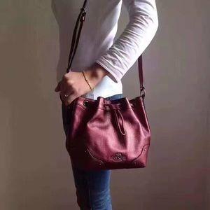 Coach Bucket Bag in Cherry